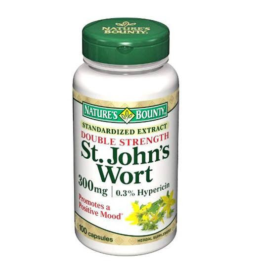 Natures Bounty St Johns Wort 300mg 100 Capsules