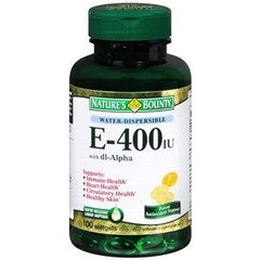 Buy Natures Bounty Vitamin E 400 IU with dl-Alpha by Nature's Bounty | Home Medical Supplies Online