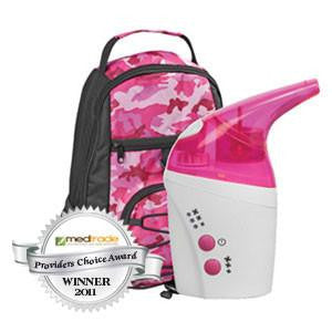 NebPak UltraSonic Nebulizer Machine Pink