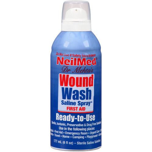 NeilMed Wound Wash Saline Spray 6 fl oz