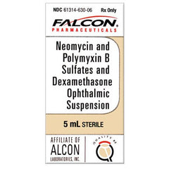 Buy Neomycin Polymyxin B Sulfates Dexamethasone Ophthalmic Suspension by falcon | Home Medical Supplies Online