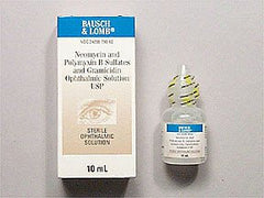 Buy Neomycin Polymyxin Gramicidin Ophthalmic Solution 10ml used for Eye Products by Bausch & Lomb