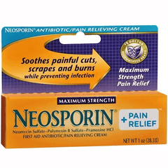 Neosporin Maximum Strength Pain Relief Antibiotic Cream for Skin Care by Johnson & Johnson | Medical Supplies