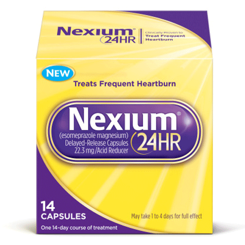 Nexium OTC 24 Hour Relief, 14 Capsules for Heartburn Relief by Wyeth Pfizer | Medical Supplies