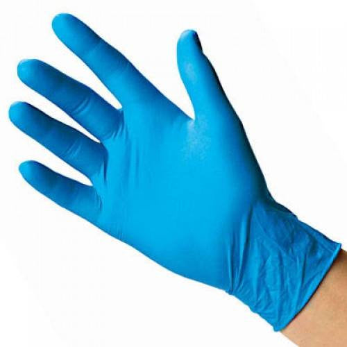 Blue Nitrile Gloves Powder Free, 100/Box