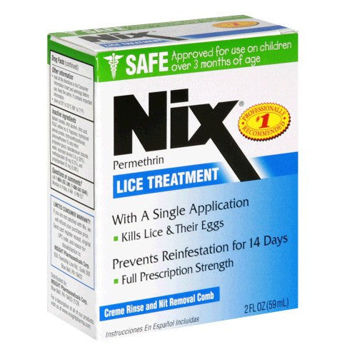 Nix Lice Treatment Creme Rinse with Nit Comb