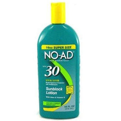 Buy No-Ad Sunscreen Lotion SPF 30 online used to treat Sunburn - Medical Conditions