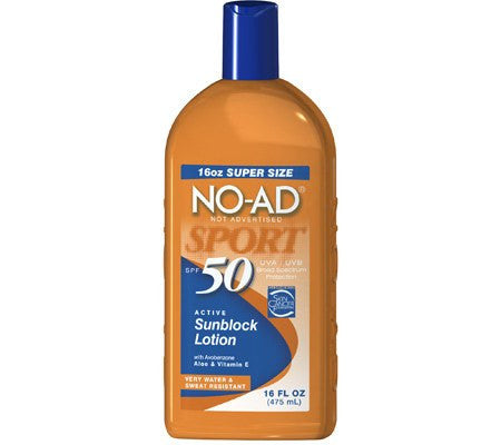 Buy No-Ad Sunscreen Lotion Sport SPF 50 online used to treat Skin Care - Medical Conditions