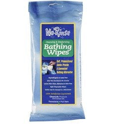 No Rinse Bathing Wipes - 8 Towelettes