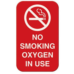 Buy No Smoking Oxygen In Use Magnetic Sign 3 x 5 online used to treat Respiratory Supplies - Medical Conditions