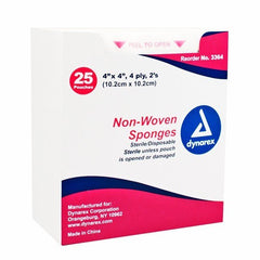 Buy Non-Woven Gauze Sponges, Sterile 4-Ply, 2's by Dynarex online | Mountainside Medical Equipment