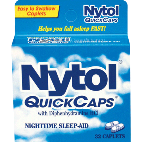 Nytol QuickCaps Sleep Aid 32 Caplets for Insomnia by MedTech | Medical Supplies