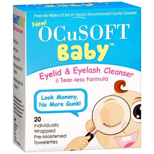 Buy OcuSoft Baby Eyelid and Eyelash Cleansing Wipes by n/a | SDVOSB - Mountainside Medical Equipment