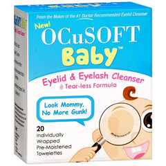 Buy OcuSoft Baby Eyelid and Eyelash Cleansing Wipes with Coupon Code from n/a Sale - Mountainside Medical Equipment