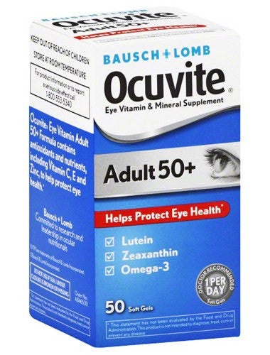 Ocuvite Adult 50+ Softgels 50 Count Bottle