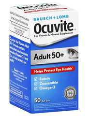 Buy Ocuvite Adult 50+ Softgels 50 Count Bottle by Bausch & Lomb online | Mountainside Medical Equipment