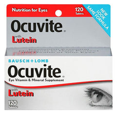 Buy Ocuvite Lutein Antioxidant Eye Vitamin & Mineral Supplement 60 Tablets by Bausch & Lomb | Home Medical Supplies Online