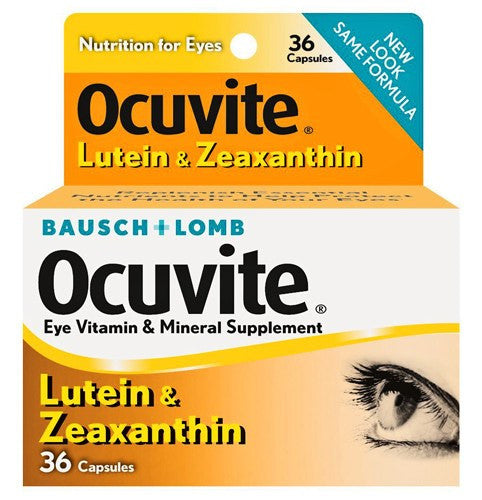Ocuvite Eye Vitamins with Lutein & Zeaxanthin Capsules 36 Count