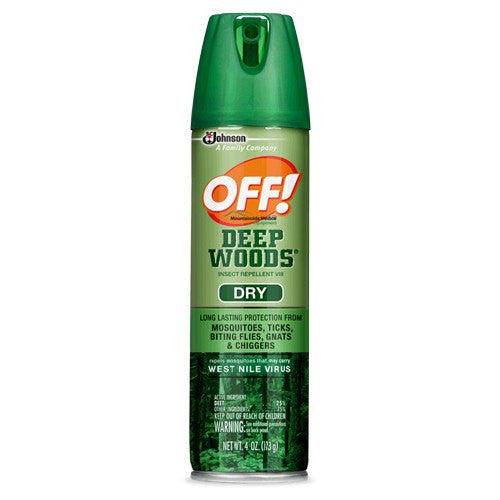 OFF Deep Woods Dry Repellent Mosquito Bug Spray 25% Deet