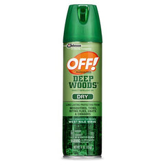 Buy OFF Deep Woods Dry Repellent Mosquito Bug Spray 25% Deet online used to treat Insect Bites - Medical Conditions