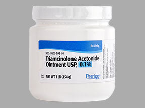 Perrigo Triamcinolone Acetonide Ointment 0.1% Jar, 1 Pound - Skin Inflammation Treatment - Mountainside Medical Equipment