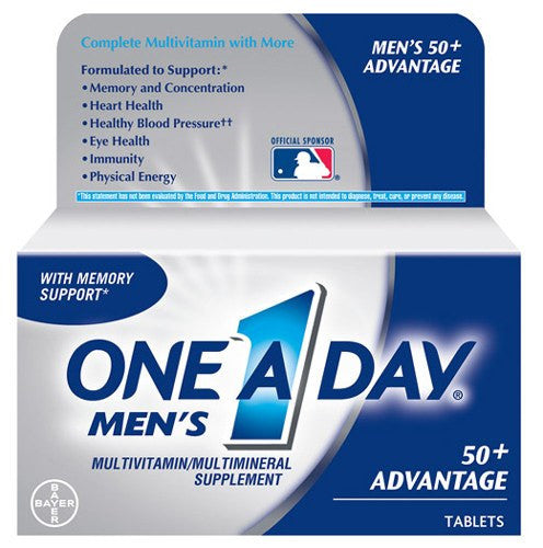 Buy One A Day Men's 50+ Healthy Advantage Multivitamin 65 Tablets online used to treat Vitamins, Minerals & Supplements - Medical Conditions