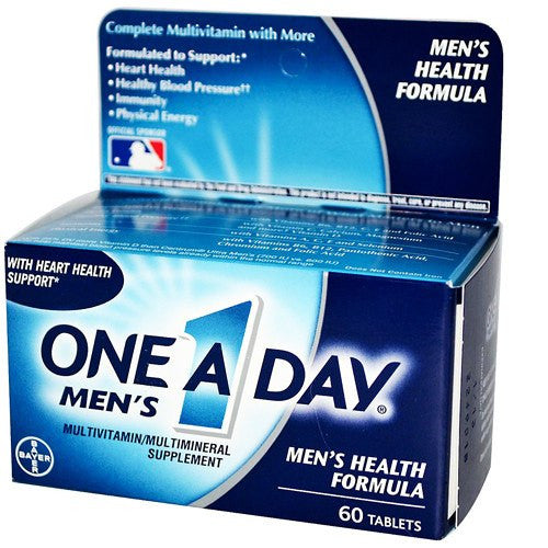 One A Day Men's Health Formula 60 Tablets for Vitamins, Minerals & Supplements by Bayer Healthcare | Medical Supplies