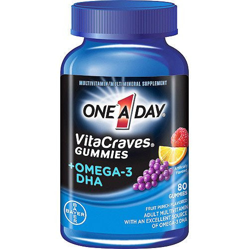 Buy One A Day Vitacraves Gummies Plus Omega-3 DHA by Bayer Healthcare | SDVOSB - Mountainside Medical Equipment