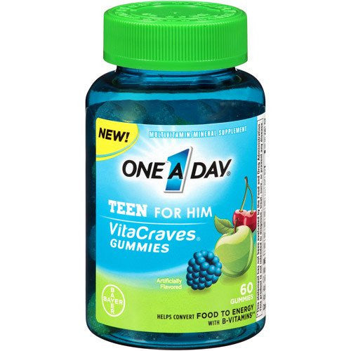 Buy One A Day VitaCraves Gummies Teen for Him Multivitamin by Bayer Healthcare from a SDVOSB | Diet and Nutrition