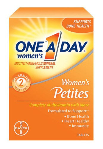 Buy One A Day Women's Petites 160 Tablets with Coupon Code from Bayer Healthcare Sale - Mountainside Medical Equipment