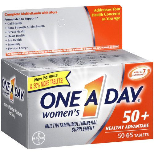 Buy One A Day Women's 50+ Healthy Advantage Multivitamin online used to treat Vitamins, Minerals & Supplements - Medical Conditions