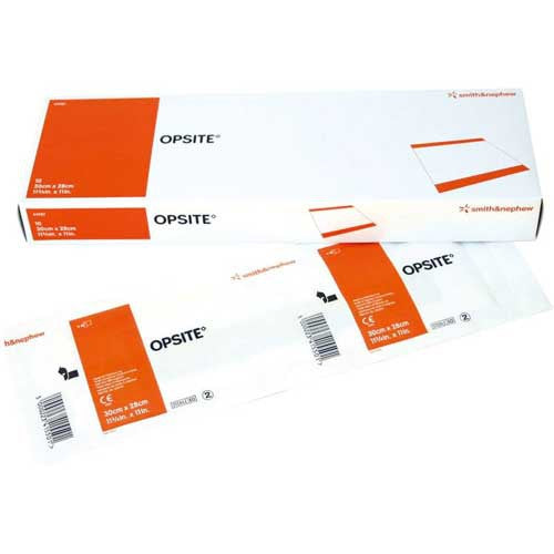 Opsite Adhesive Polyurethane Film 17 3/4 X 11 Inches (10/box) - Transparent Film Dressing - Mountainside Medical Equipment