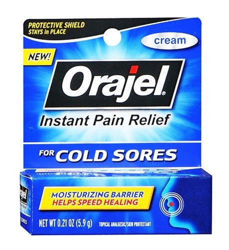 Buy Orajel Instant Pain Relief Cold Sore Cream online used to treat Cold Sores - Medical Conditions