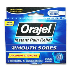 Buy Orajel Medicated Mouth Sore Swabs by Church & Dwight | Home Medical Supplies Online