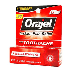 Buy Orajel Regular Strength Pain Reliever Gel for Toothaches online used to treat Personal Care & Hygiene - Medical Conditions