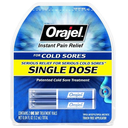 Orajel Single-Dose Instant Cold Sore Treatment for Cold Sores by Church & Dwight | Medical Supplies