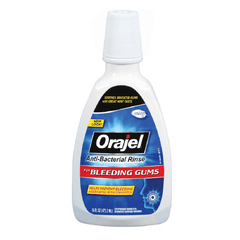 Orajel Antiseptic Rinse for Mouth Sores 16 oz for Dentists by Church & Dwight | Medical Supplies