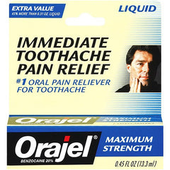 Buy Orajel Maximum Strength Toothache Pain Relief Liquid online used to treat Personal Care & Hygiene - Medical Conditions