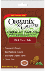 Buy Organix Chocolate Mint Sore Throat Cough Drops 21/Bag by Rochester Drug from a SDVOSB | Cold Medicine