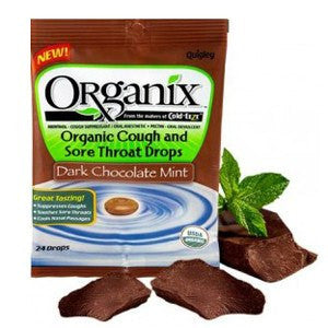Organix Chocolate Mint Sore Throat Cough Drops 21/Bag for Cold Medicine by Rochester Drug | Medical Supplies