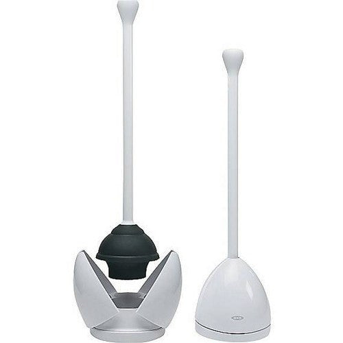 OXO Good Grips Toilet Plunger with Holding Stand
