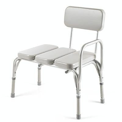 Transfer Bench with Padded Vinyl Seat for Toilet Safety Frames by Invacare | Medical Supplies