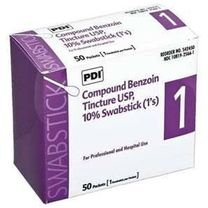 Buy Compound Benzoin Tincture Swabsticks 1s 50/Box by PDI from a SDVOSB | Prep Pads and Swabsticks