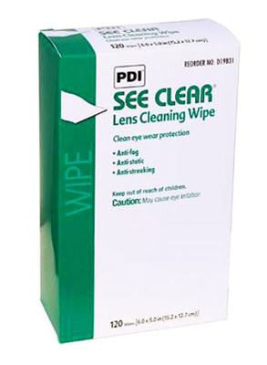 PDI See Clear Lens Cleaning Wipes 120/Box