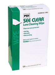 Buy PDI See Clear Lens Cleaning Wipes 120/Box by PDI wholesale bulk | Eye Products