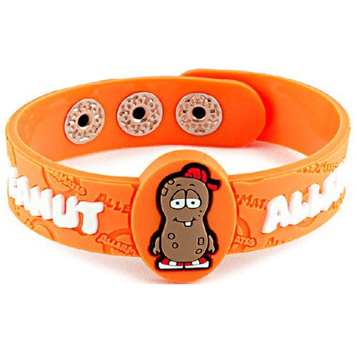 AllerMates P Nutty Peanut Allergy Alert Wristband - Allergy Relief - Mountainside Medical Equipment