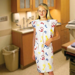 Buy Pediatric Exam Gowns Tiny Tracks 50/Case online used to treat Isolation Gowns - Medical Conditions