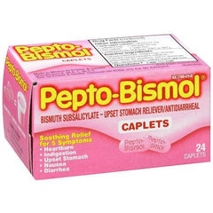 Buy Pepto Bismol Original Caplets 24 Count online used to treat Upset stomach reliever - Medical Conditions