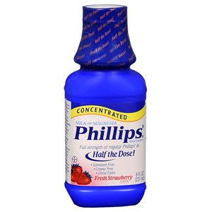 Buy Phillips Milk of Magnesia with Fresh Strawberry Flavor 8 oz by Bayer Healthcare | Heartburn Relief