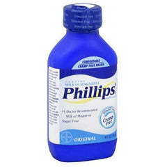 Buy Phillips Milk of Magnesia Liquid Original Flavor 4 oz used for Laxatives by Bayer Healthcare